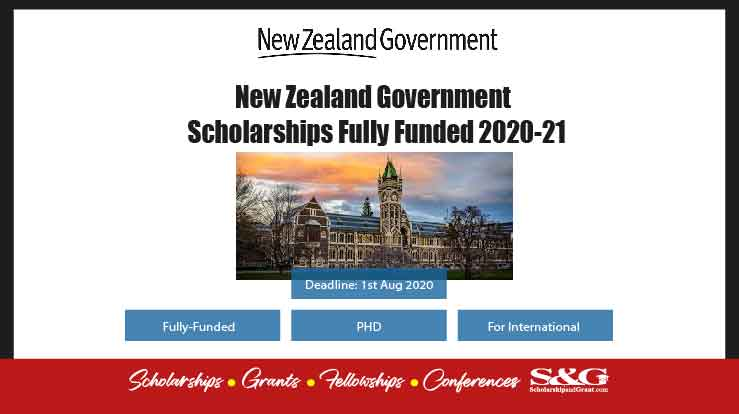New Zealand Government Scholarships Fully Funded 2020-21
