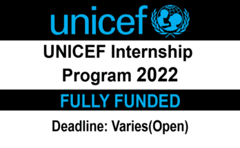 UNICEF Internship Program 2022